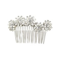 Jeweled daisy cluster comb