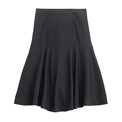 Flare skirt in stripe Super 120s wool