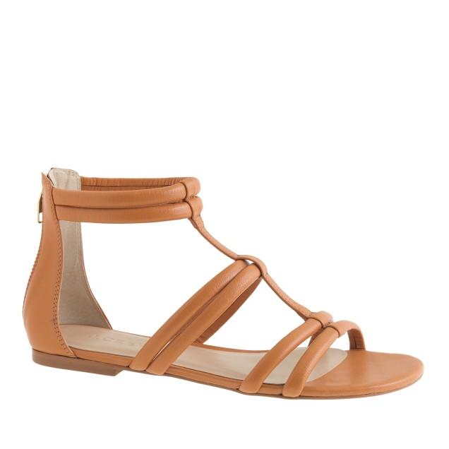 Back-zip sandals