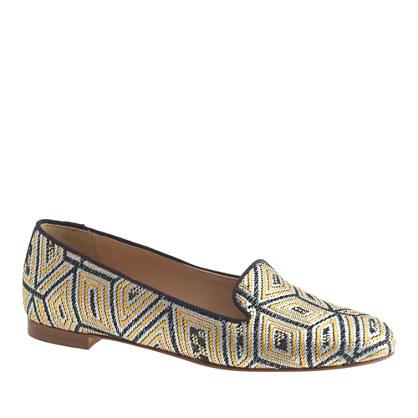 Cleo metallic jacquard loafers