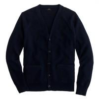 Seedstitch cotton cardigan