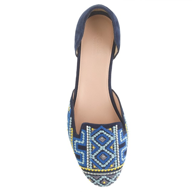 Collection Cleo embroidered d'Orsay loafers