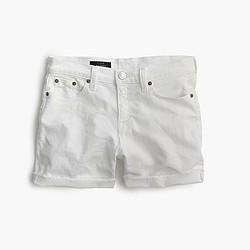 Denim short in white