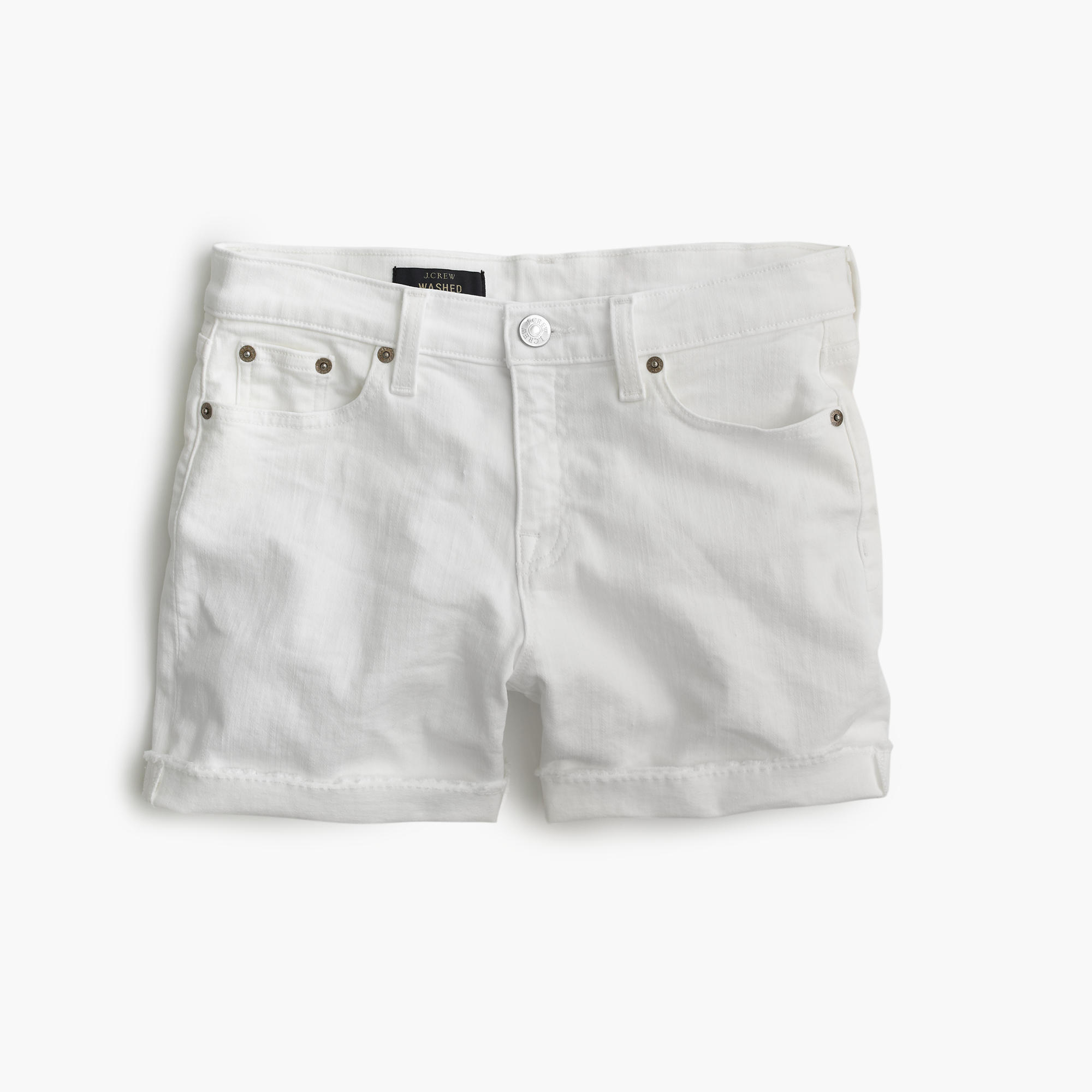 Denim Short In White : Women's Shorts | J.Crew