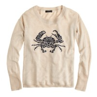 Linen embroidered crab sweater