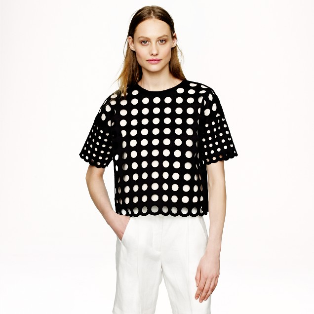 Collection bonded geo dot sweater
