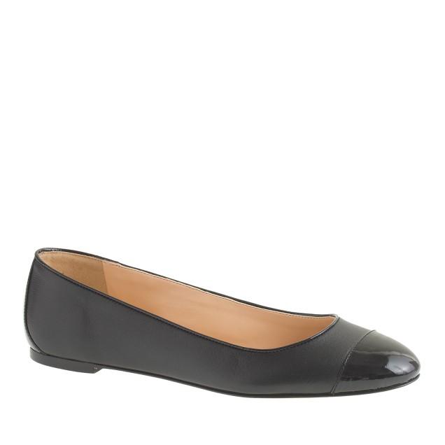 Nora patent cap toe ballet flats