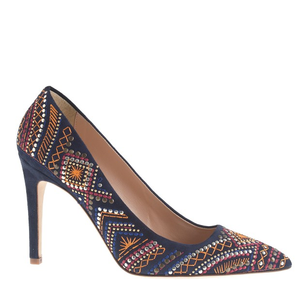 Collection falsetto embroidered pumps