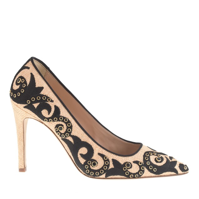 Collection falsetto jeweled pumps