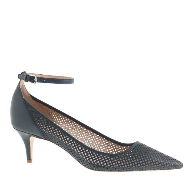 Dulci perforated kitten heels