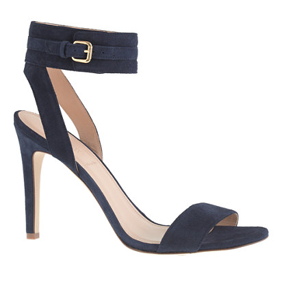 Suede ankle-cuff sandals