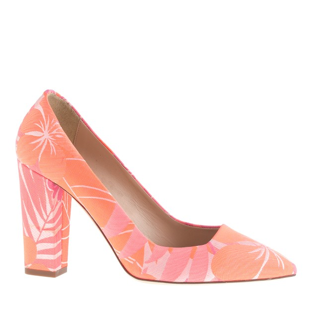 Ava printed pumps
