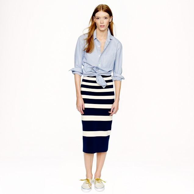 Collection stripe skirt