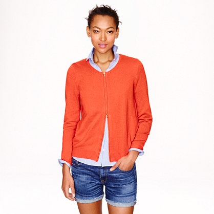 Collection cashmere zip cardigan