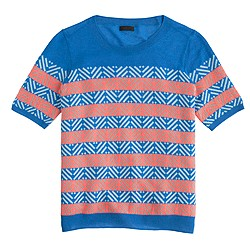 Collection cashmere diamond stripe sweater