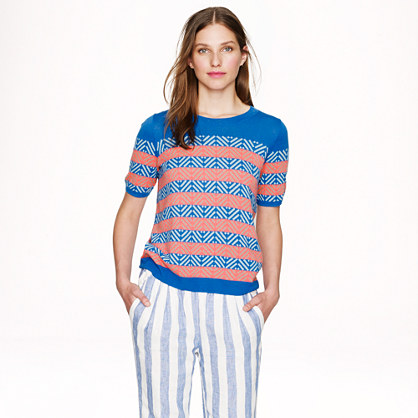 Collection cashmere diamond stripe sweater