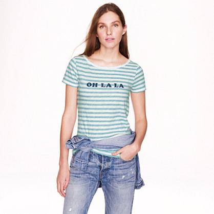 Vintage cotton T-shirt in oh la la