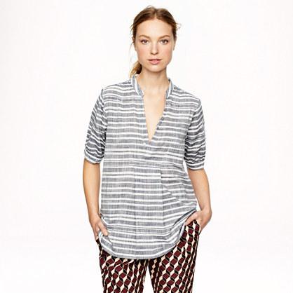 Stripe gauze tunic