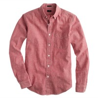 Slim Japanese chambray shirt in sunwashed red