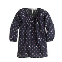 Girls' tunic in sequin foulard