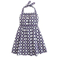Girls' sun dress in geo stars