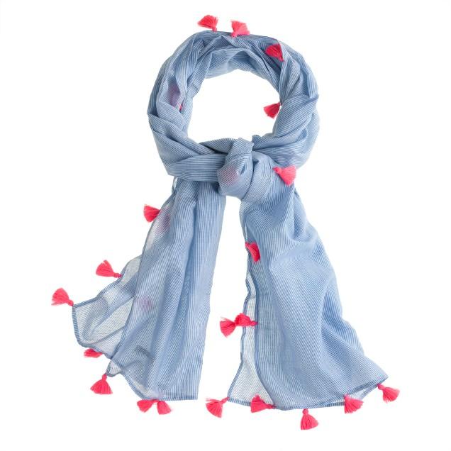 Girls' Nellystella® blue stripe scarf