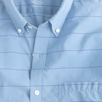 Slim Secret Wash shirt in serene blue plaid