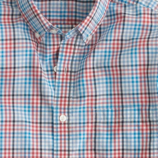 Lightweight shirt in canyon red check