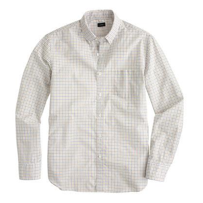 Secret Wash shirt in warm cider tattersall