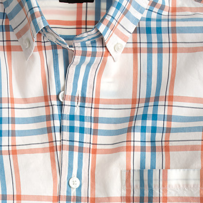 Secret Wash shirt in orange check