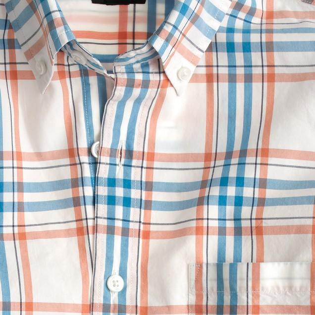 Secret Wash shirt in orange check