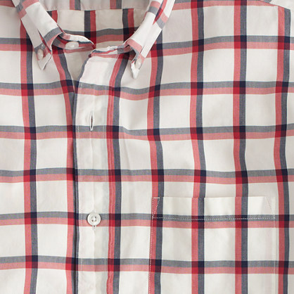 Slim Secret Wash shirt in summer check