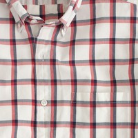 Tall Secret Wash shirt in summer check