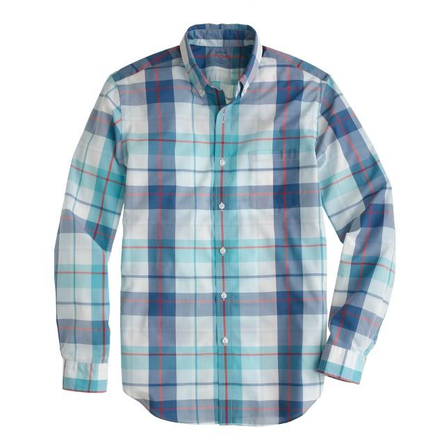Lightweight shirt in rhone river gingham