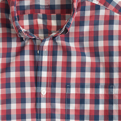 Tall lightweight shirt in blue gingham