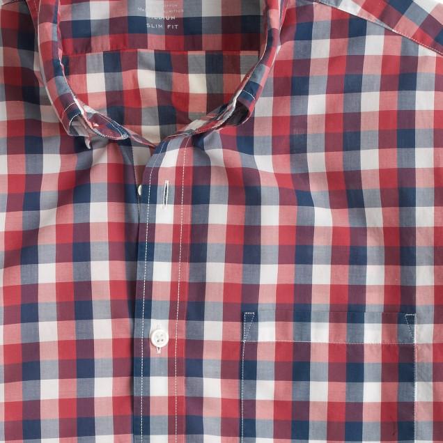 Lightweight shirt in blue gingham