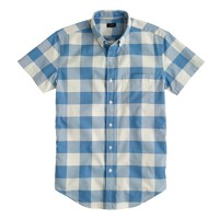 Short-sleeve vintage oxford shirt in gingham
