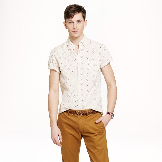 Short-sleeve shirt in dot