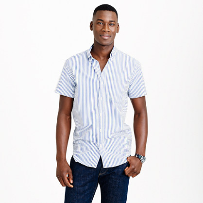 Short-sleeve shirt in bengal stripe