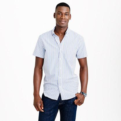 Short-sleeve shirt in bengal stripe