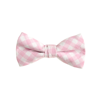 Boys' cotton bow tie in pink gingham