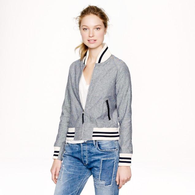 Golden Bear Sportswear® for J.Crew linen varsity jacket