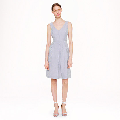 Petite Kami dress in seersucker