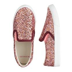 Girls' slide sneakers in glitter