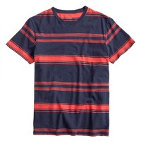 Cotton-linen T-shirt in freeport blue stripe