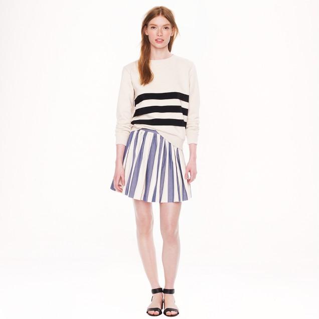 Maison Kitsuné® stripe skater skirt