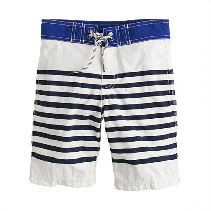Boys' board short in multistripe