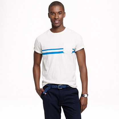 Pocket T-shirt in breaker stripe