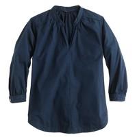 Poplin tunic top