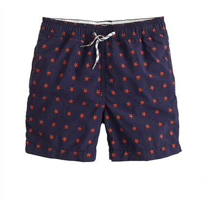 Boys' swim trunk in stars print